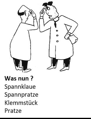 Karikatur: Diskussion über die richtige Terminologie